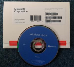 China Genuine Windows Server 2019 Standard Edition DVD 64 Bits 100% Online Activation on sale