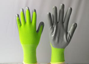 China Grey Nitrile Coated Work Gloves Extended Service Life Comfortable In Dry Condition on sale