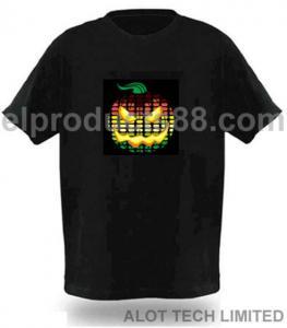 China EL Equalizer Shirt EL Music Sound-actived Shirt (HNR 0038) on sale