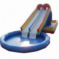 Inflatable bouncer combo slide/super slide/giant slide/water park slide, made of PVC tarpaulin