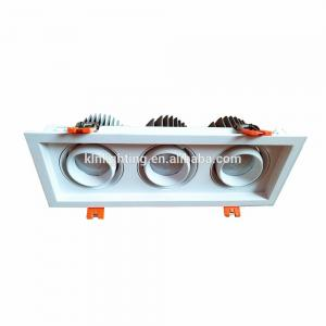 China Dimmable Three Heads LED Ceiling Lamp Tridonic / Lifud Driver Avaialble on sale