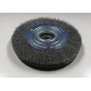 China Corrugated Wire Industrial Steel Wire Wheel Brush For Heavy Duty Brushing on sale