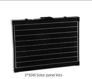 China Portable Solar Panel Systems 2 X 50W Double Sided Fluorine TPT Backsheet on sale