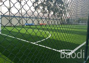 China Carbon Steel Green Pvc Coated Chain Link FenceAnti Alkali For Sports Field on sale