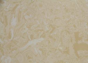 China Artificial Quartz Stone Slab 2.5 G / Cm3 Density , Quartz Stone For Kitchen Countertops on sale