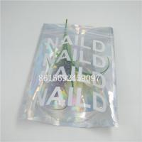 Holographic Laser Aluminium Foil Bag Custom Logo Printing Zipper Top For Eyelash