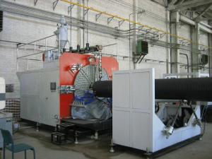 China PLC Control Plastic Production Line , HDPE Pipe Extruding Machine on sale