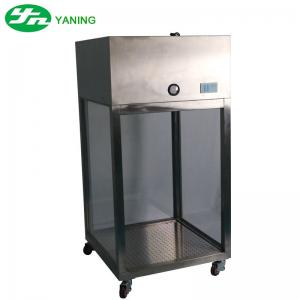 China Stainless Steel Raw Material Sampling Booth With Pressure Gauge And UV Light on sale
