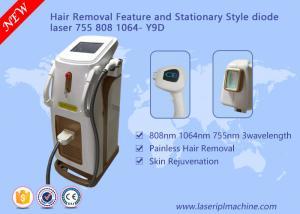 China Depilation Diode Laser Hair Removal Machine 3 Wavelength 755nm 808nm 1064nm on sale