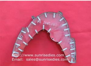 China Transparent steel rule die for garments on acrylic base with sealed screw locked, on sale