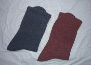 China Winter Red / Blue Cotton Mens Large Dress Socks With Plain Pattern on sale