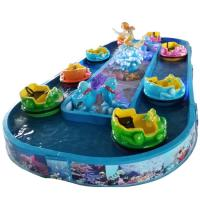 Blue color  ocean drift durable fiberglass quality and long working life for amusement equipment