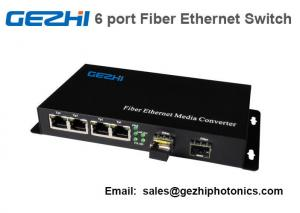 China 6 Port Fiber Ethernet Switch 4*RJ45 UTP port 2*Fiber port Media Converter on sale