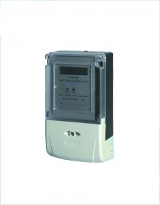 China Anti Theft Single Phase Static Prepaid Energy Meter / IC Prepaid Card Energy Meter on sale