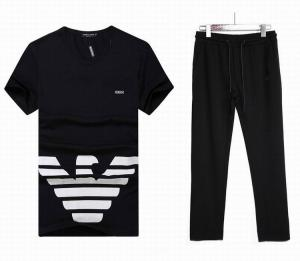 China Armani short suit man 2017 designed t-shirt, men pants black suit wholesale price on sale