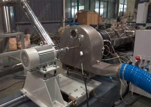 China Soft And Rigid PVC Plastic Granulating Pelletizing Extruder Making Machine Hot Die Cutting on sale