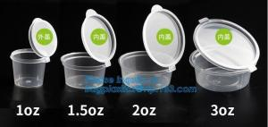 China Disposable mini plastic jelly cup PP sauce cup,PS Sauce Cup,Transparent PP Plastic Square Portion Sampling Sauce Cup wit on sale