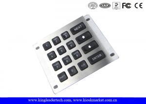China Rear Panel Mount Led Illuminated Metal Keypad for Industrial Machines on sale