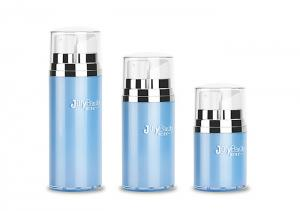 China Blue Double Pump Head Dual Chamber Plastic Bottle PP SAN 15ml * 2 on sale