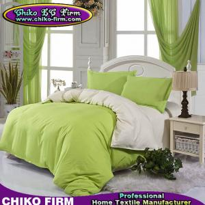 China Bed Set Soft Color Fadeness Plain Colors AB Side Design Bedding Set on sale