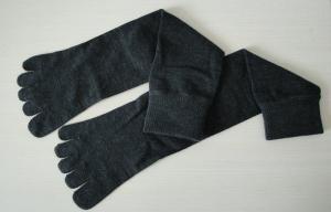 China Softness Black Five Toe Socks , Women Cotton Fleece Socks In Winter on sale