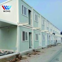 China Pre-mad Steel frame shipping container house/ prefab container homes on sale