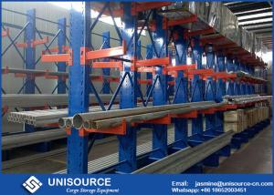 China Double Arm Cantilever Storage Racks Metal Sheet Stacking With Steel Pallet on sale