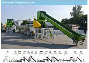 China PP PE Films Recycled Plastic Recycling Extruder Single Screw With Washing Line on sale