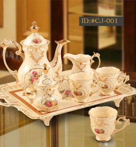 China L-D luxurious European style high-end ceramic  coffee set tea set ID:#CJ-001 on sale
