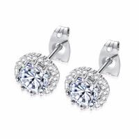 Jewelry Simple Designs Stainless Steel 14K 18K Small Gold Silver Stud Earrings For Women Girls