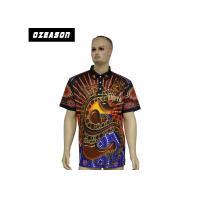 Australian Aboriginals Sublimated Darts Sports Polo Shirts / Sports T Shirts With Collar