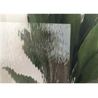 Figured Decorative Patterned Glass 90% Transmittance 3.2 Mm Ultra Clear Type