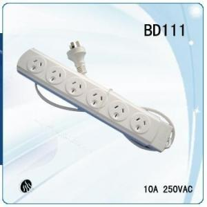 China Australian overload protection ans surge protection power strip with plug and 6ways socket on sale