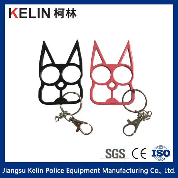 Cat Self Defense Keychain With Material Of Aluminum Alloy For Sale