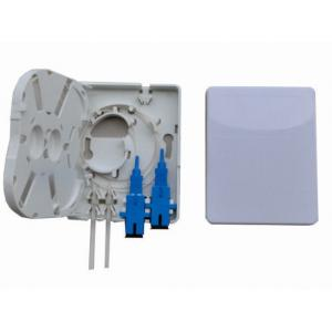 Waterproof 2 Port Wall Mount Fiber Termination Box Telecommunication Networks