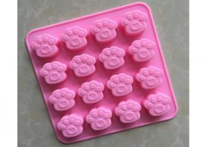 China Bear Paw Shape Silicone Baking Molds With Good Non - Skid Property on sale