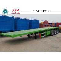 Carbon Steel Q345B 40 Foot Flatbed Trailer With Germany Type Axle For Zambia