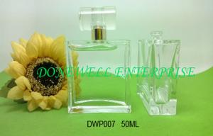 China Ladies 50ml Painted Glass Perfume Spray Bottles With C / W Surlyn Cap And Pump DWP007 on sale