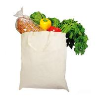 Basic Eco Friendly Cotton Shopping Tote , Promotional Reusable Grocery Bags