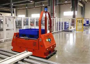 China Roller Platform Automated Guided Vehicle Robot , Laser AGV 24 Hours Working Time on sale