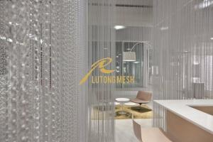 Aluminum Chain Link Curtain for room divider for sale Aluminum