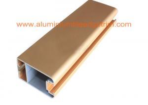 China Matt Gold Anodized Aluminium Door Profiles , Aluminium Door Frame Sections50mm X 25mm supplier