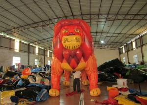 China Commercial Cartoon Inflatable Advertising Signs digital painting Giant Inflatable Lion for exhibition on sale