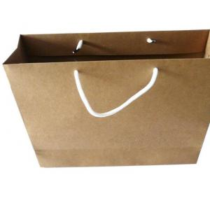 China Simple Promotion Custom Printed Paper Bags Kraft Paper Bag With PP Handle on sale