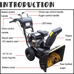China New type garden tools Loncin 6.5hp snow thrower, snow blower, snow removel equipment on sale