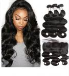 Lace Frontal 100% Unprocessed Malaysian Hair Extensions Natural Wave