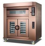 3 Deck Electric Baking Ovens For Bread / Independent Temperature Control Evenly Luxuly Bakery Oven Machine