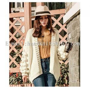 China OEM Custom Ladies' Hand knit Cardigan, Hand Knitted Sweater,  Fashion Girls Cardigan Factory Manufacturer Supplier on sale