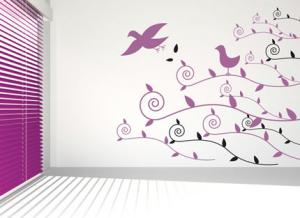 China PVC full color non-toxic Safe bedroom wall sticker for Home Decoration on sale