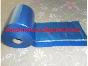 China outdoor pretaped masking film with paper tape on sale